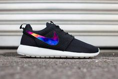 promo code 5abf4 c72d0 Custom Colorful Galaxy Nike Roshe Run Fabric Pattern Mens Womens FAST  SHIPPING! Great Gift,