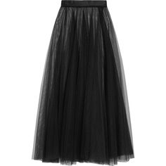 I.D. Sarrieri Pandora tulle maxi skirt ($425) ❤ liked on Polyvore featuring skirts, black, holiday skirts, long evening skirts, sheer maxi skirt, maxi skirts and evening skirts