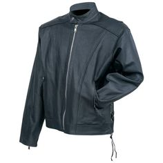 Rocky Mountain Hides� Solid Genuine Cowhide Leather Cruiser Jacket