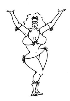 You Go Girl  Funny Coloring Pages for Adults from the by chubbyart