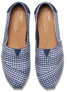 These gingham check TOMS are just darling!