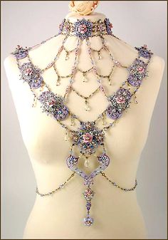 So stunning every fairy should wear this collar by Kelly Martinez.