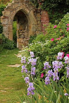 Ruins Of A Gothic Doorway In The Garden At Scotney Castle Near Tunbridge Wells