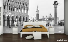 Romantyczna fototapeta z Wenecją w sypialni