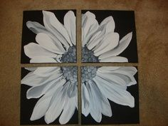 daisy painted of 4 canvases - Google Search