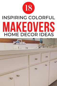 If you're decorating on a budget then you'll love these creative and cheap inspiration dresser upcycles and bathroom cabinet makeovers. Perfect for your entryway, bedroom and living room decor. #hometalk