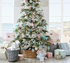 Beachcomber Basket Tree Collar #treecollar #christmastreedecor #beachcomber