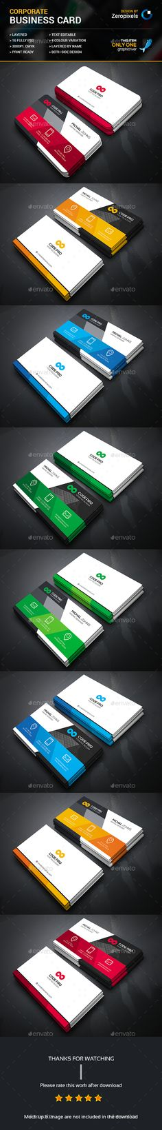 Corporate Business Card Bundle Templates PSD. Download here: http://graphicriver.net/item/corporate-business-card-bundle/16715160?ref=ksioks