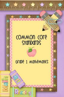 First Grade: Common Core Math Standards ~ I used the K one non-stop last year. Teaching First Grade, First Grade Classroom, 1st Grade Math, Student Teaching, Math Classroom, Classroom Ideas, Grade 1, Classroom Organization, Teaching Ideas