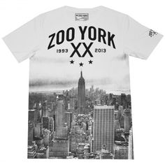 Mens Zoo York BROOKLYN BRIDGE T-Shirt Tee Top Black