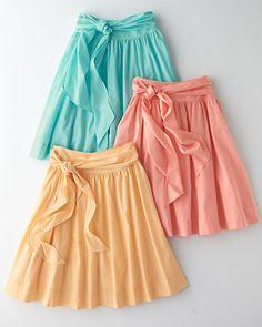 Voile Sash Skirt - Garnet Hill