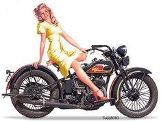 vintage harley davidson pin up girls | pin-up 0291
