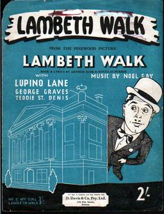 Cover of sheet music for The Lambeth Walk, 1937.