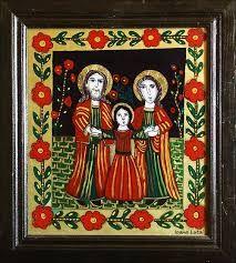 Imagini pentru icoane pe sticla modele sf.Stelian New Mexico Style, Christian Paintings, The Birth Of Christ, Holy Family, Orthodox Icons, Sacred Art, Catholic, Coloring Pages, Folk