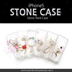 Jewelry Transparent Hard Case for iPhone 5 at U$28.89