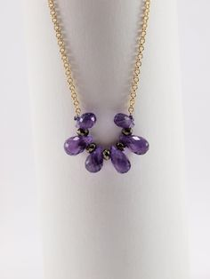 Amethyst Drops by HippieChicJewelryAth on Etsy Amethyst, Pendants, Necklaces, Pendant Necklace, Trending Outfits, Stone, Unique Jewelry, Handmade Gifts, Silver