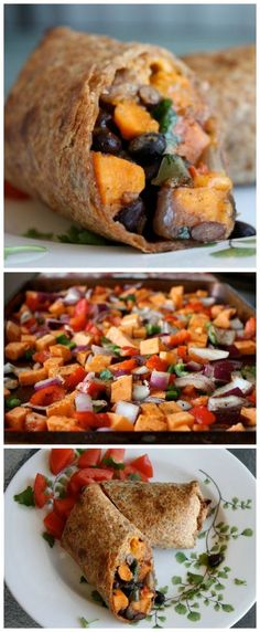 These amazing Roasted Veggie and Black Bean Burritos burst with flavor! Healthy and filling, you won't miss the meat with this vegetarian Mexican dish. (Gerd Diet Recipes)
