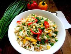 Chinese Veg Fried rice   Ingredients 2 cups Basmati rice or any long grain 1 cup mixed vegetables of your choice like carrots, red, yellow bell peppers, green peas, fresh or frozen kernels of corn, French beans . I used red and yellow bell peppers, fresh corn kernels, spring onions, French beans 1 tbsp spring onions finely diced 1/2 tbsp []