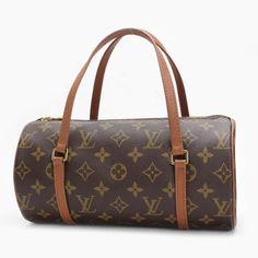Louis Vuitton Papillon 26 (Old Model) Monogram Handle bags Brown Canvas M51366