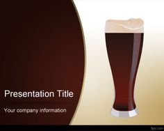 Online Dark Beer PowerPoint Template is a free PPT template with dark beer image in the slide design and brown template color