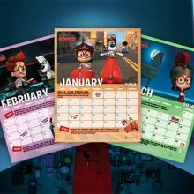 Calendar Mr. Peabody and Sherman Free Printables, Activities, Coloring Pages, Recipes and more | SKGaleana