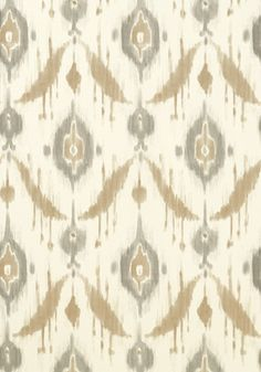 Island Ikat wallpaper - love the mix of beige and gray