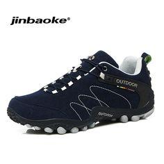 c05b004bb0ad8b JIBAOKE outdoor mountain trekking shoes Men Women hiking shoes Waterproof  leather climbing shoes outdoor sports shoes Review