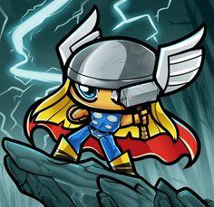 Chibi Thor by Dragoart on DeviantArt