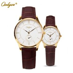 Cheap watches event, Buy Quality wrist watch videos directly from China wrist watch tv mobile phone Suppliers: Onlyou Fashion Casual Genuine Leather Black Watch Women Men Heart Shape Lovers' Watches Waterproof Heart Shape Wristwatc