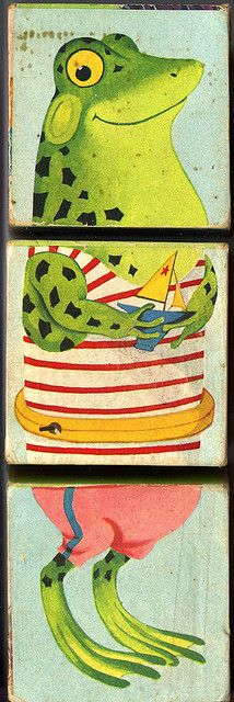 Changeable blocks playskool : grenouille marin by Ribambelles & Ribambins, via Flickr