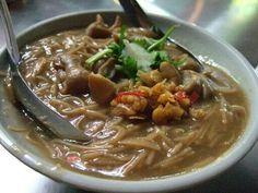 Innards Stew noodle / 紅麹大腸麺線 / 紅麹で味付けをした大腸入り麺線