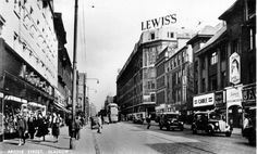 In this busy scene we are looking east along Argyle Street, across the junction with Union Street on the left and Jamaica Street on the right. Glasgow Scotland, Scotland Travel, Argyle Street, Glasgow City, Scottish Highlands, New Pictures, Old Photos, Street View, History