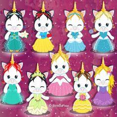 Royal Icing Templates, Stencil Templates, Unicorn Princess, Cute Disney Drawings, Girl Clipart, Cartoon Profile Pics, Image Fun, Cute Unicorn, Princesas Disney
