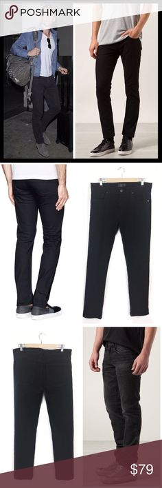 """j brand // tyler black slim fit jeans • 36 x 33 Heavy grinding destroys the black-washed denim of J Brand's signature slim-fitting jeans, that are then repaired with interior patchworking and stitching for a second lease on long-lasting life. Zip fly with button closure. Five-pocket style. Slim fit. Approx. 33"""" inseam; 14 1/2"""" leg opening; 10"""" front rise. 98% cotton, 2% elastane. Great condition, only worn once or twice. Celebrity fave, seen on countless stars. J Brand Jeans Slim"""