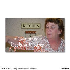 Chef In Kitchen Standard Business Card
