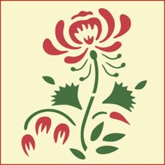 Colonial Rose Stencil | Gorgeous home decor and crafting stencil from The Artful Stencil! US Shipping in only 5 days. We ship all over the world.