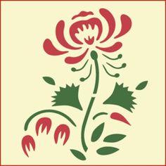 Rose Stencil, Bird Stencil, Stencil Painting, Flower Stencils, Silk Painting, Stencil Patterns, Stencil Designs, Cake Designs, Scandinavian Embroidery