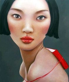 Ling Jian 1963 Born in Shandong Province, China 1982 Studied in Qinghua University Art College, Beijing 1986 Graduat. Chinese Contemporary Art, Contemporary Paintings, Modern Art, Chinese Painting, Chinese Art, Pop Surrealism, Asian Art, Illustration Art, Jewelry Illustration