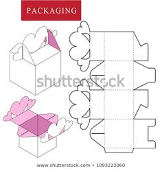 Retail Box TemplateValentine Day Concept