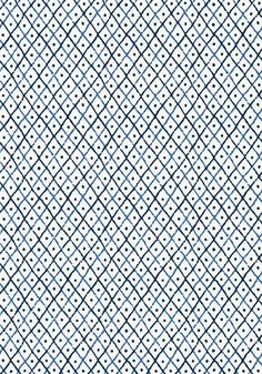 MINI TRELLIS, Blue, AT78750, Collection Palampore from Anna French