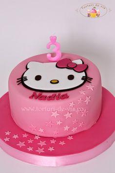 Torturi - Viorica's cakes: Tort Hello Kitty pentru Nadia