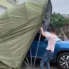 Cool Gadgets To Buy, Car Gadgets, Home Gadgets, Car Shelter, Portable Garage, Vw Camping, Car Tent, Carport Designs, Car Hacks