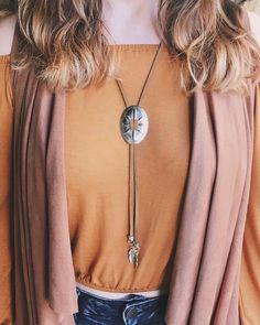 Bolo Concho Necklace - Livin' Freely | Festival Jewelry, Gypsy Necklace, Boho Necklace