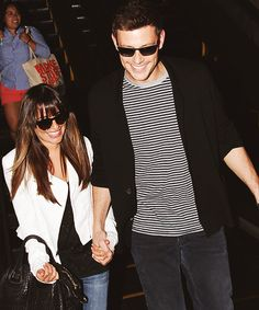 Lea Michele and Cory Monteith hold hands at LAX June 20. They are so cute!! #monchele