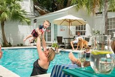 Soak Up Some Sun With Fido And Family By The Pool At Rose Lane In Key West