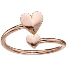 Alex and Ani Romance Heart Wrap Ring (Rose Gold) Ring ($20) ❤ liked on Polyvore featuring jewelry, rings, 14 karat gold jewelry, 14 karat gold ring, 14k ring, heart-shaped jewelry and alex and ani