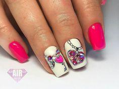 Matte Nails, My Nails, Heart Day, Heart Nails, Spring Nails, Nail Art, Fancy, Nail Ideas, Beauty
