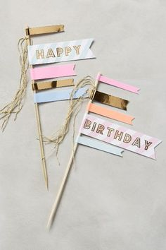 Happy Birthday Cake Flags - anthropologie.com