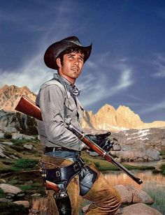 Robert Fuller in Laramir Laramie Tv Series, Robert Fuller Actor, Charlie Carver, New Television, The Rifleman, Cowboy Girl, Western Film, Tv Westerns, Old Tv Shows