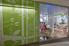 Look at those graphics! Installation photo of KI's Genius Movable Wall at the Seattle Children's Hospital. KI recently selected KI movable walls because of their need for highly functional and flexible environments. The hospital selected KI because of its ability to quickly and easily to the ever-changing demands of healthcare environments—and do so in a way that promotes sustainable practices. Learn more at www.ki.com.